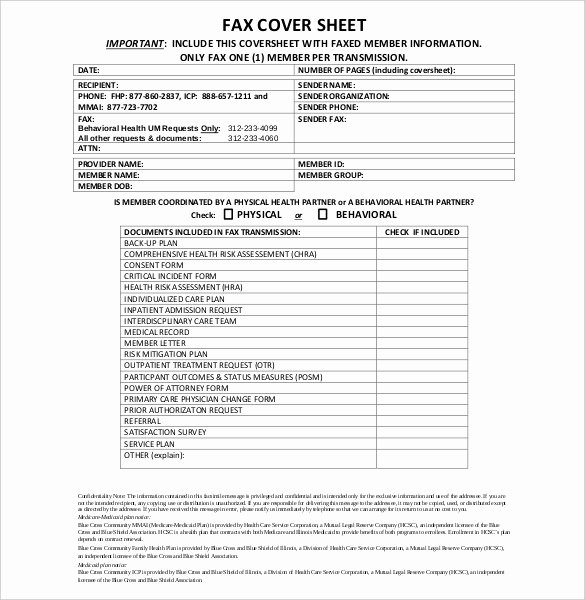 Fax Cover Sheet Confidential Best Of Confidential Cover Sheet – 10 Free Word Pdf Documents