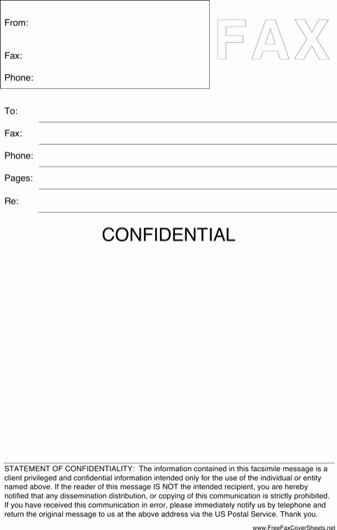 Fax Cover Sheet Confidential Best Of Download Cover Sheet Templates for Free formtemplate