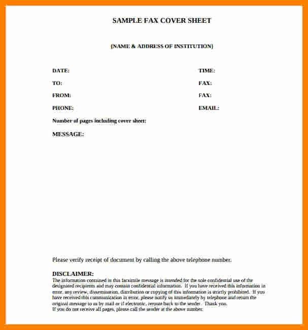 Fax Cover Sheet Confidential Elegant 10 Free Confidential Fax Cover Sheet
