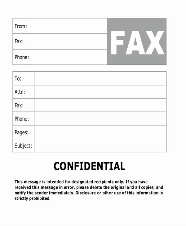 Fax Cover Sheet Confidential Fresh Sample Fax Cover Letter In Pdf 8 Examples In Pdf