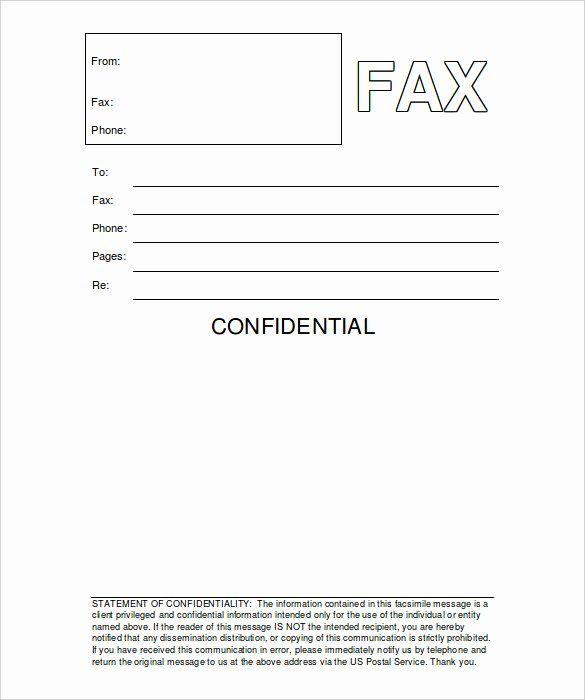 Fax Cover Sheet Confidential Inspirational 12 Free Fax Cover Sheet Templates – Free Sample Example