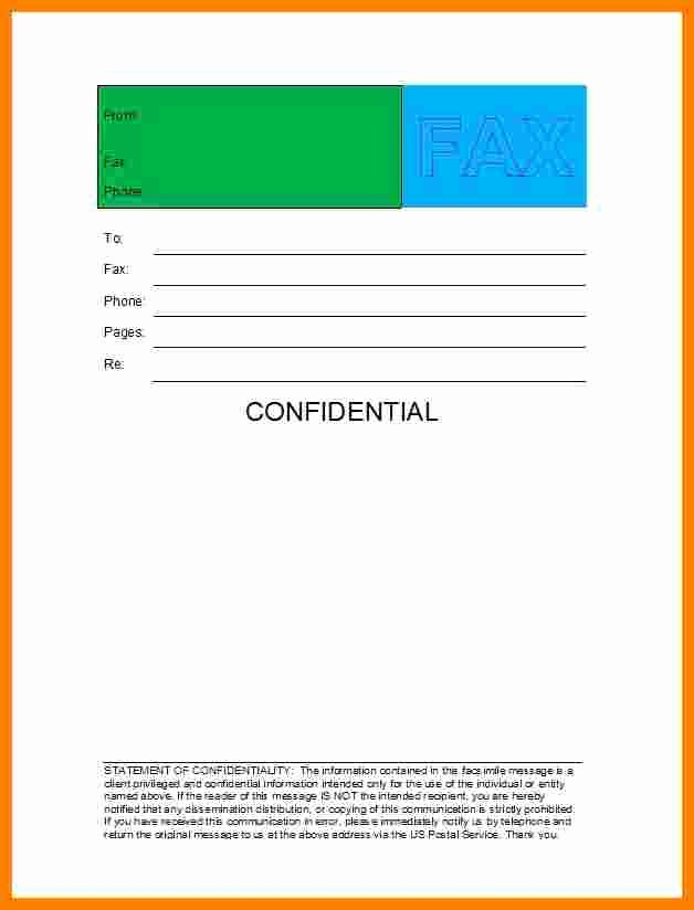Fax Cover Sheet Confidential Lovely 7 Free Fax Cover Sheet Confidential