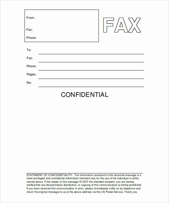 Fax Cover Sheet Confidential Lovely Fax Cover Template Microsoft Word Picture – Microsoft Word