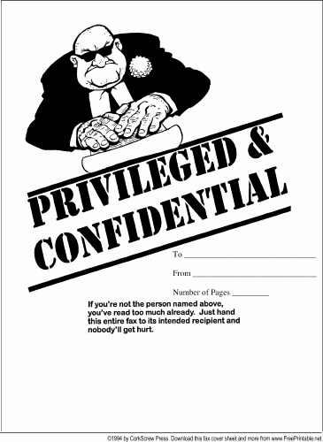 Fax Cover Sheet Confidential Luxury Confidential Fax Cover Sheet