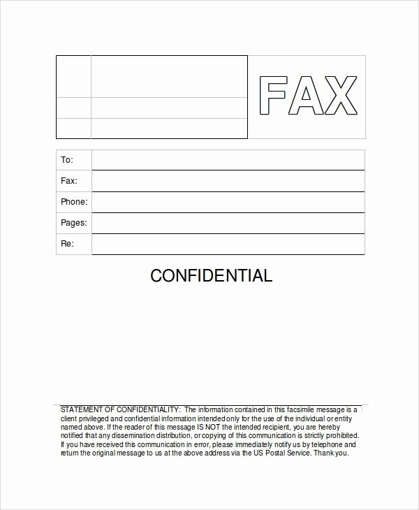 Fax Cover Sheet Confidential Luxury Sample Generic Fax Cover Sheets 8 Documents In Pdf Word