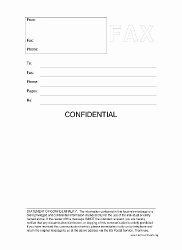 Fax Cover Sheet Disclaimer Unique Confidential Fax Cover Sheet at Freefaxcoversheets