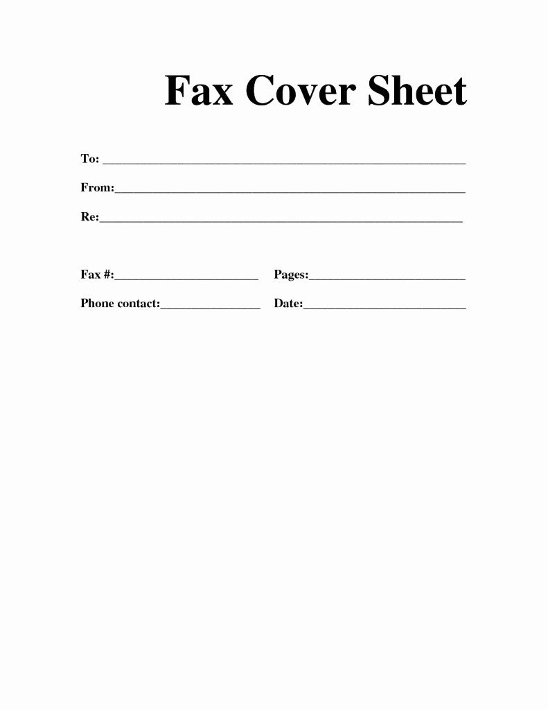 Fax Cover Sheet format Inspirational Free Printable Fax Cover Sheet Template Word Pdf Download