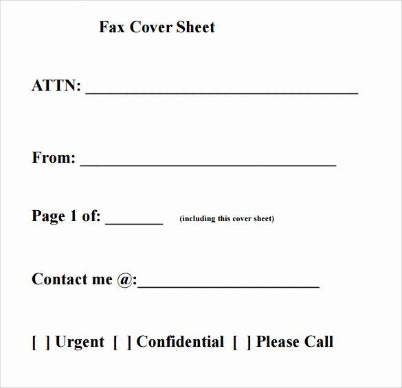 Fax Cover Sheet format New Download Fax Cover Sheet Templates Pdf Printable