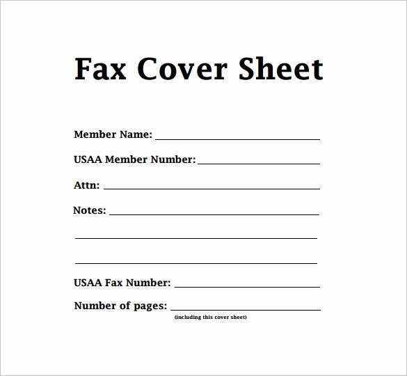 Fax Cover Sheet format Unique Free Fax Cover Sheet Template format Example Pdf Printable