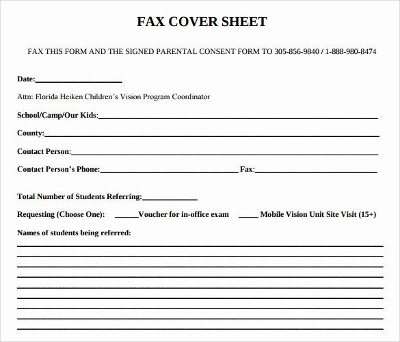 Fax Cover Sheet format Unique Sample Fice Fax Cover Sheet 8 Documents In Pdf Word