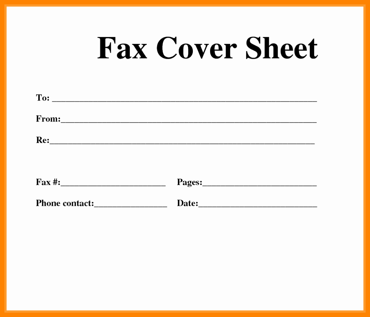 Fax Cover Sheet Template Best Of Basic Fax Cover Sheet