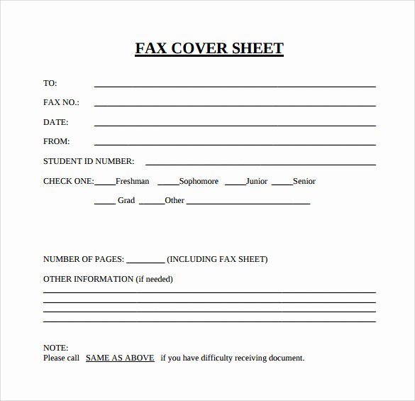 Fax Cover Sheet Template Elegant Sample Blank Fax Cover Sheet 14 Documents In Pdf Word