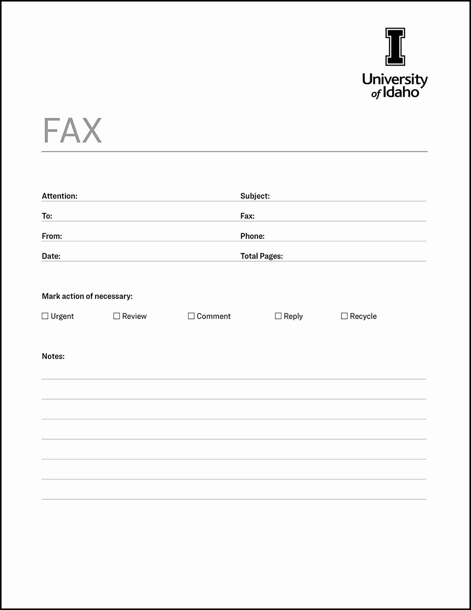 Fax Cover Sheet Template Inspirational Fax Cover Sheet Brand toolkit Brand Resource Center