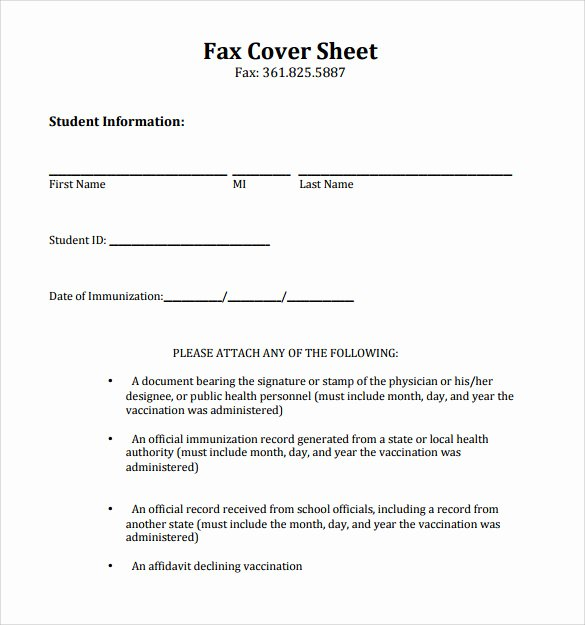 Fax Cover Sheet Template Inspirational Sample Printable Fax Cover Sheet 17 Free Documents In