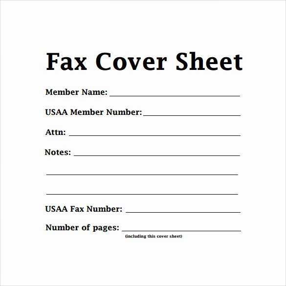 Fax Cover Sheet Template New Sample Basic Fax Cover Sheet 13 Documents In Word Pdf