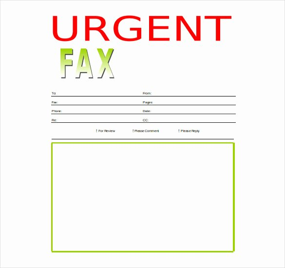 Fax Cover Sheet Word Template Elegant 12 Word Fax Cover Sheet Templates Free Download