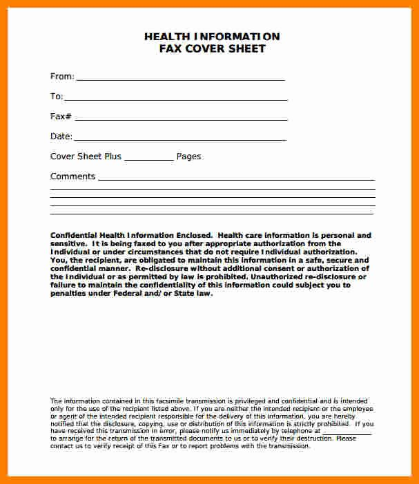 Fax Cover Sheet Word Template Fresh 9 Free Fax Cover Sheet Template Word