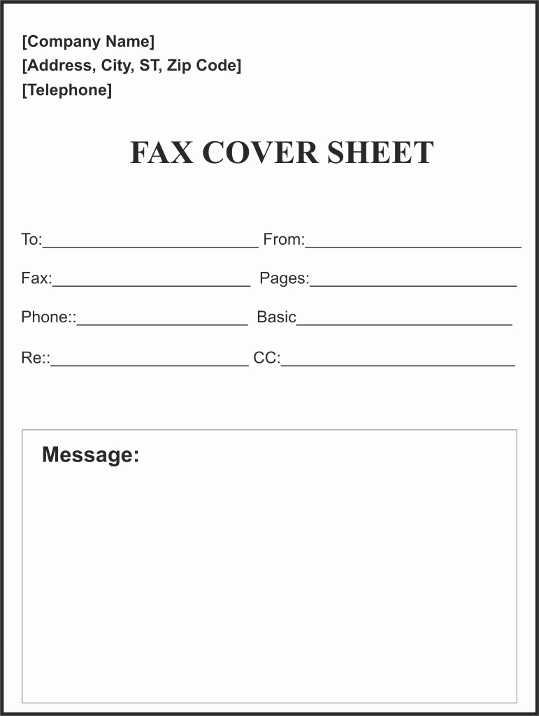 Fax Cover Sheet Word Template Luxury Free Fax Cover Sheet Template [pdf Word Google Docs] Faq