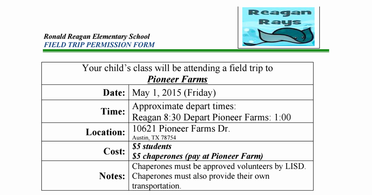Field Trip Permission form Beautiful 4th Grade Weekly Happenings