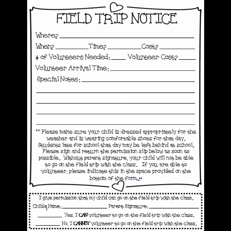 Field Trip Permission form Best Of Field Trip Permission