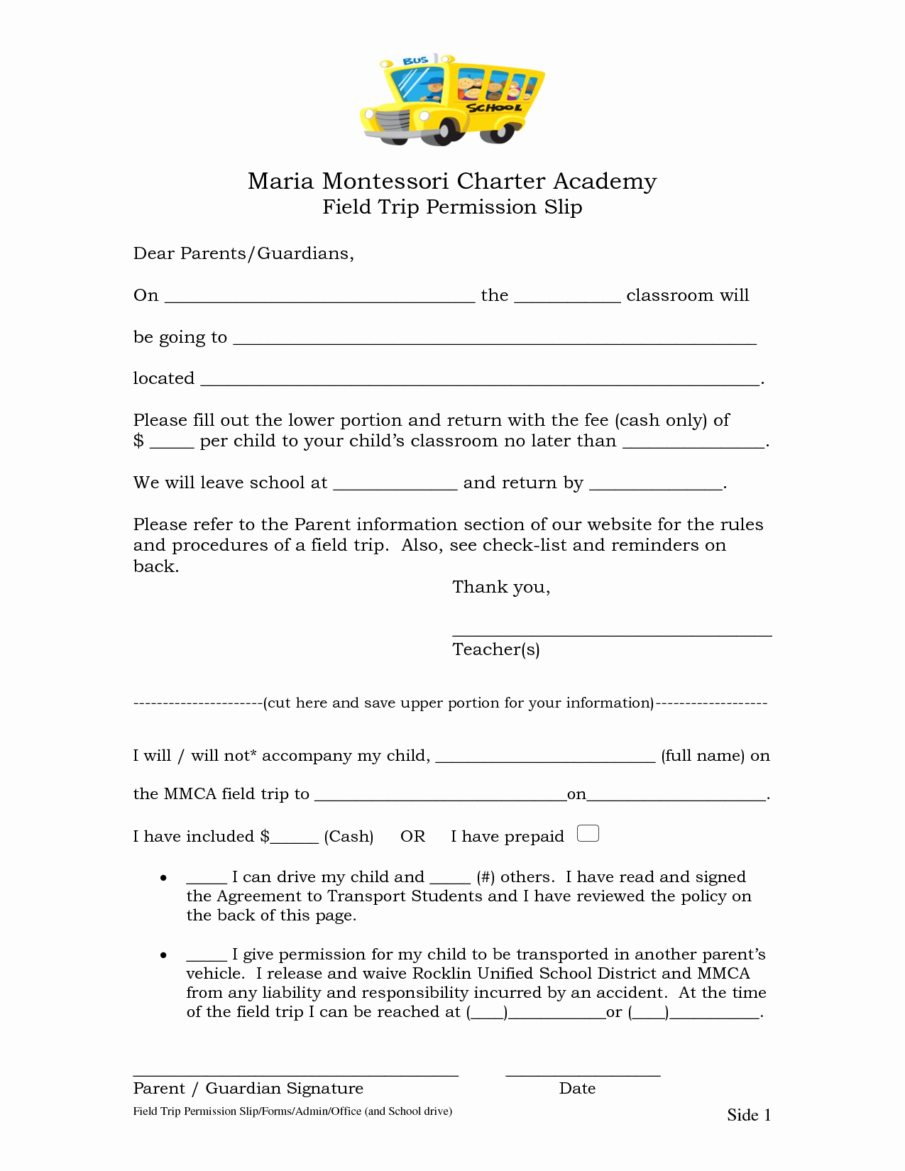 Field Trip Permission form Elegant Permission Slip Field Trip
