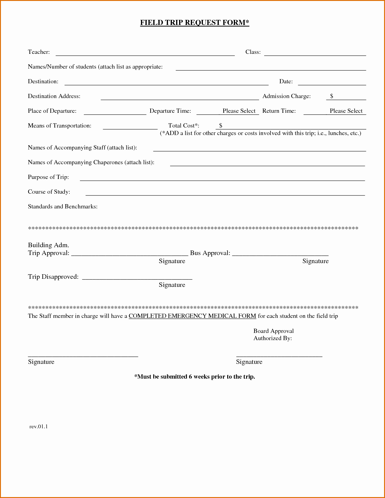 Field Trip Permission form Inspirational 7 Field Trip form Template