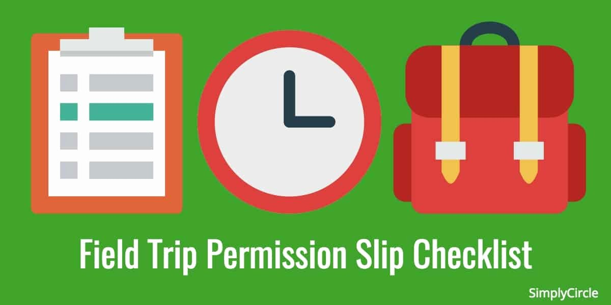 Field Trip Permission Slip form Unique Field Trip Permission Slip Checklist Simplycircle
