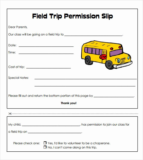 Field Trip Permission Slip Template Fresh Sample Slip 7 Documents In Pdf Word