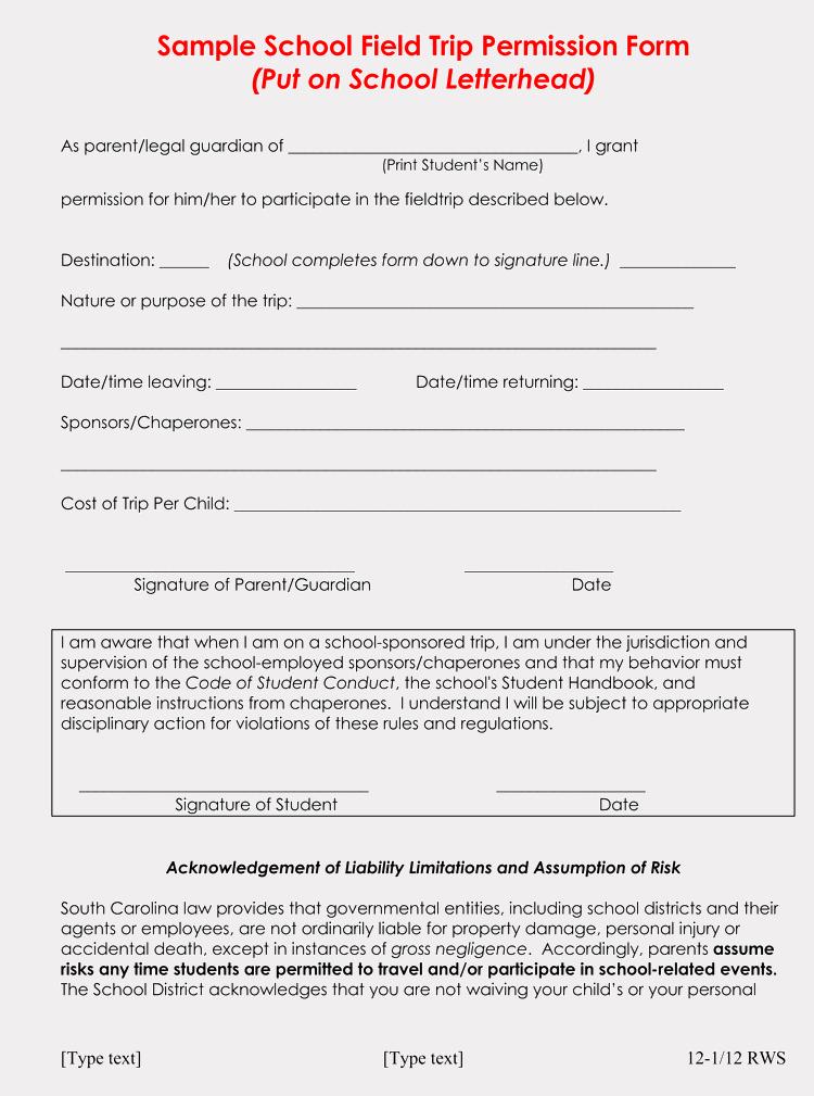 Field Trip Permission Slip Template Lovely Blank Field Trip Permission Slip Templates & forms Word Pdf