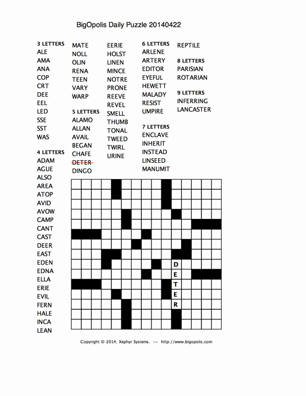 Fill In Puzzles Printable Elegant Fill In Crossword Puzzles Printable Crossword Fill In
