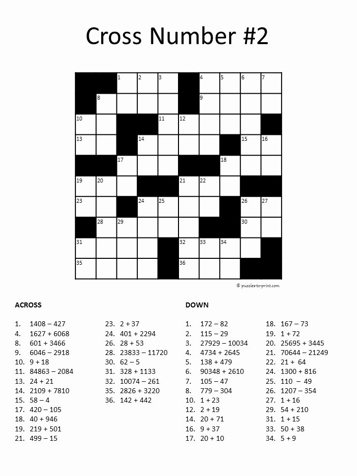 Fill In Puzzles Printable Unique Free Printable Number Fill In Puzzles for Adults Download