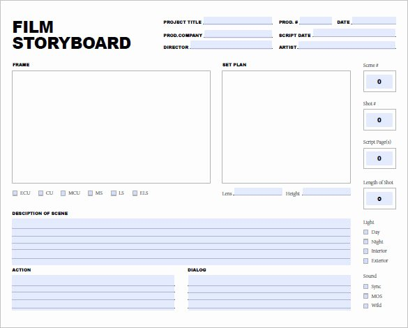 Film Story Board Template Elegant 7 Movie Storyboard Templates Doc Excel Pdf Ppt