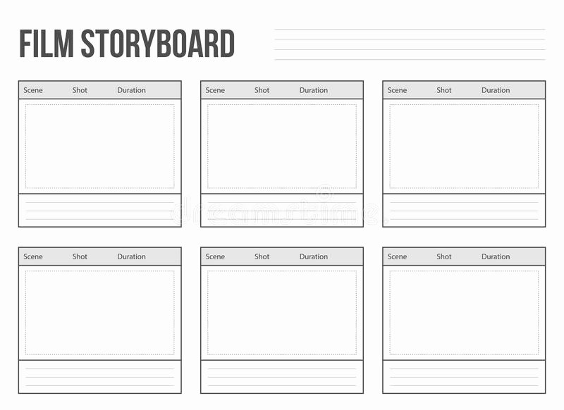 Film Story Board Template Elegant Storyboard Template for Story Stock Vector