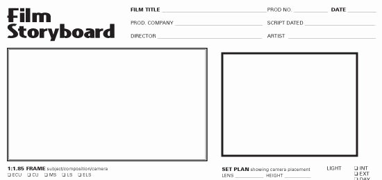Film Story Board Template Elegant Storyboard Template Graphy