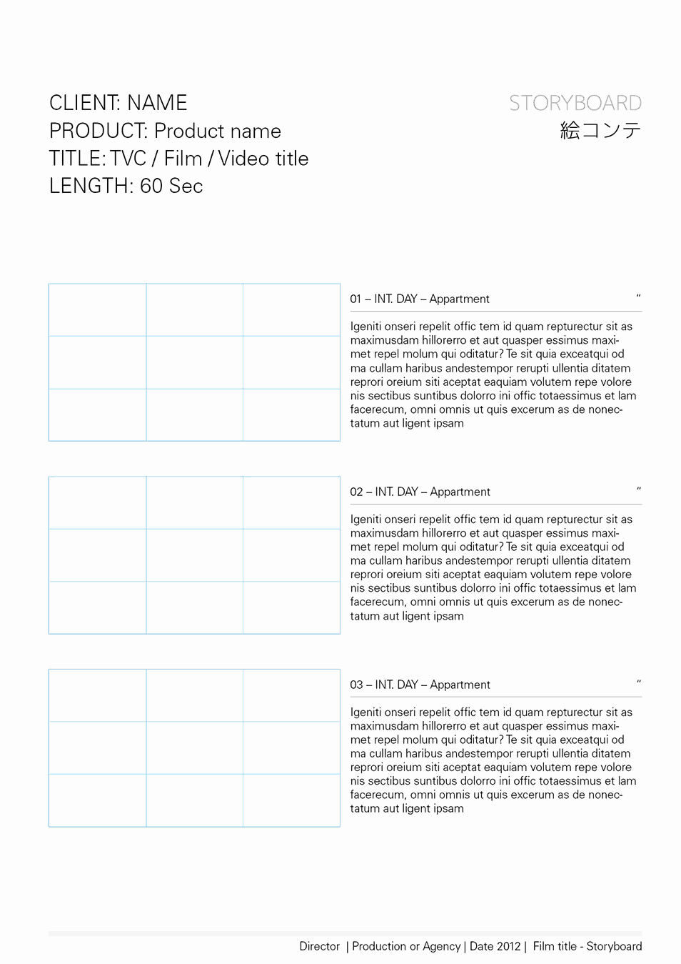 Film Story Board Template Fresh Storyboard Templates – Storyboards