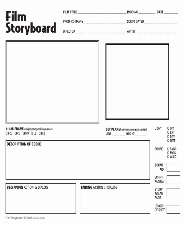 Film Story Board Template Inspirational 8 Storyboards Free Sample Example format Download
