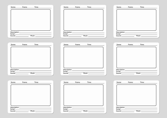 Film Story Board Template Inspirational Storyboard Template for Film Story Graphics Creative