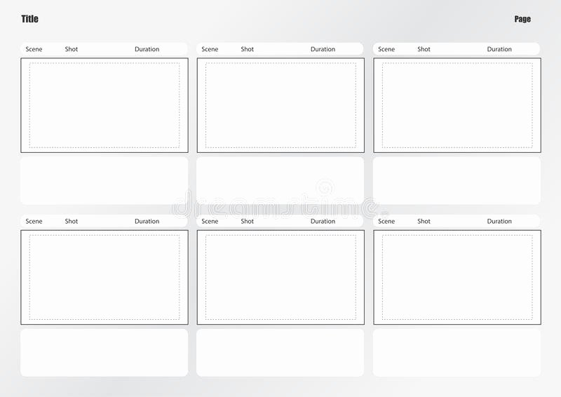 Film Story Board Template New Professional Storyboard Template Stock