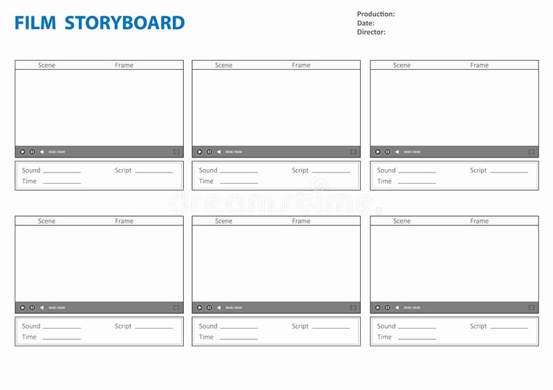 Film Story Board Template New Storyboard Template for Story Stock Vector