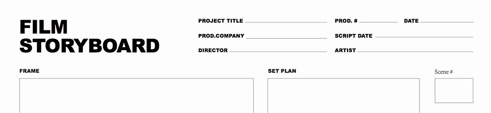 Film Story Board Template Unique Free Storyboard Template for and Video Projects
