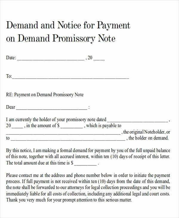 Final Demand for Payment Elegant Demand Letter Examples
