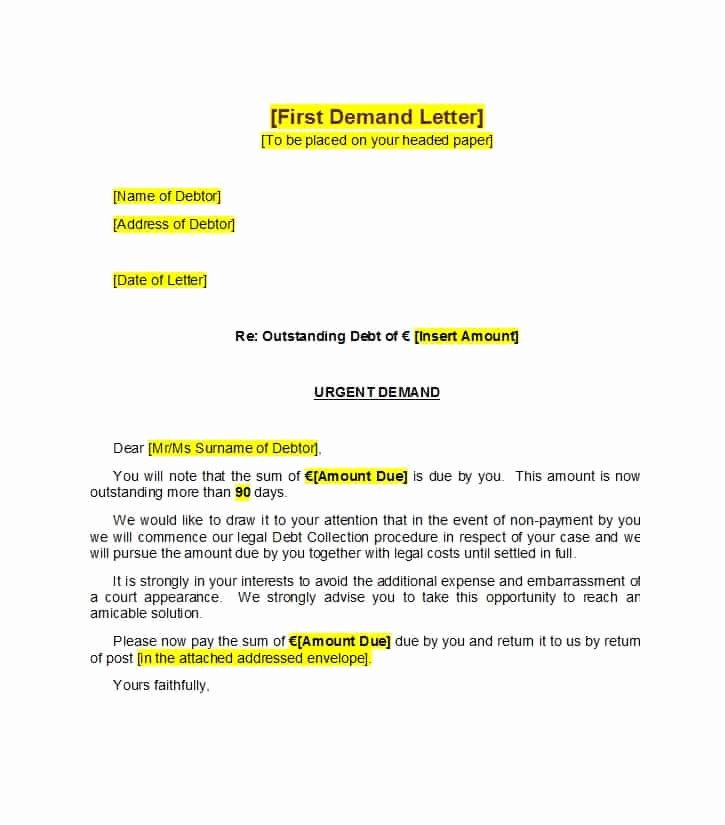 Final Demand for Payment New 40 Best Demand Letter Templates Free Samples Template Lab