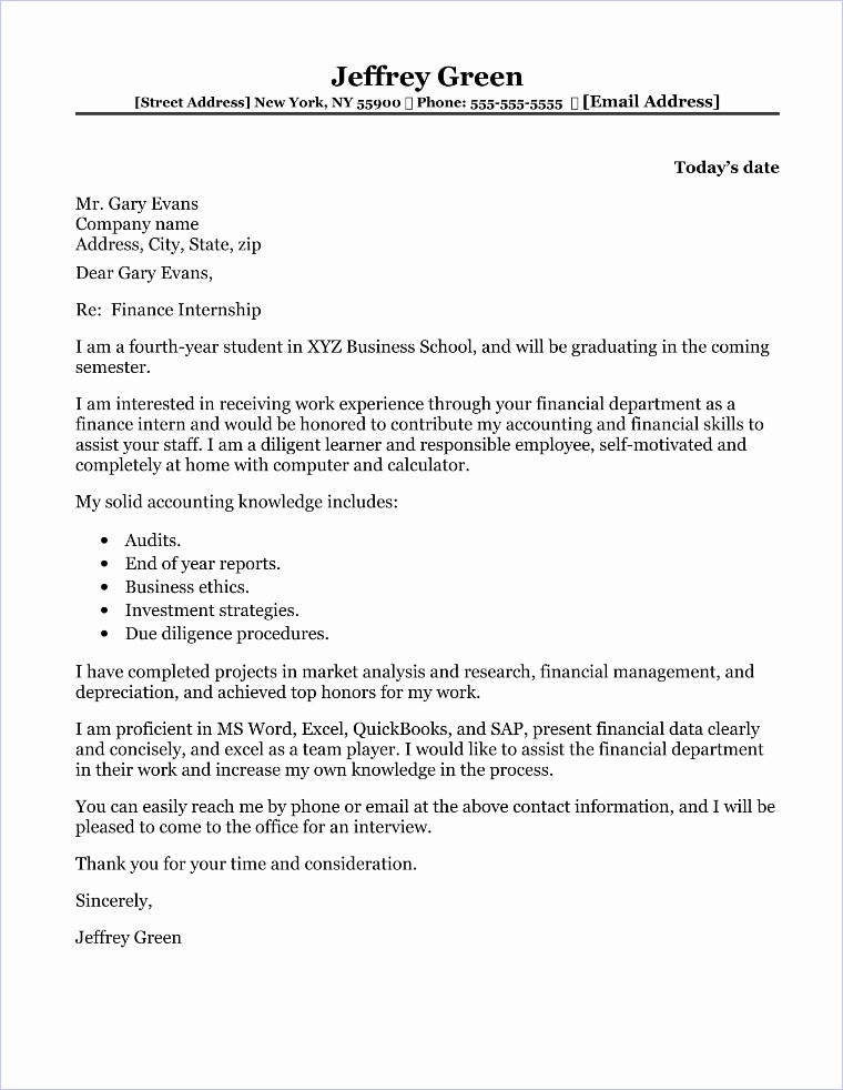 Finance Cover Letter Sample Best Of Human Resources Manager Cover Letter Sample