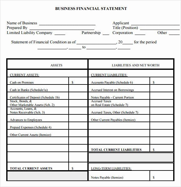Financial Report Template Word Elegant Sample Financial Summary Template 7 Free Documents In Pdf