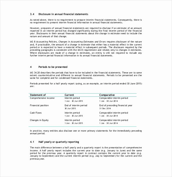 Financial Report Template Word Fresh 10 Financial Report Templates