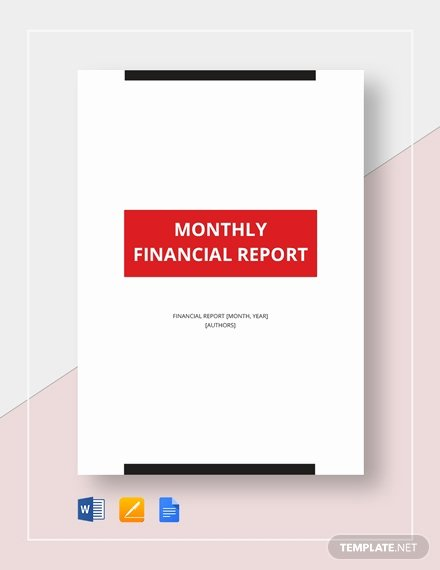 Financial Report Template Word Inspirational Monthly Financial Report Template Word