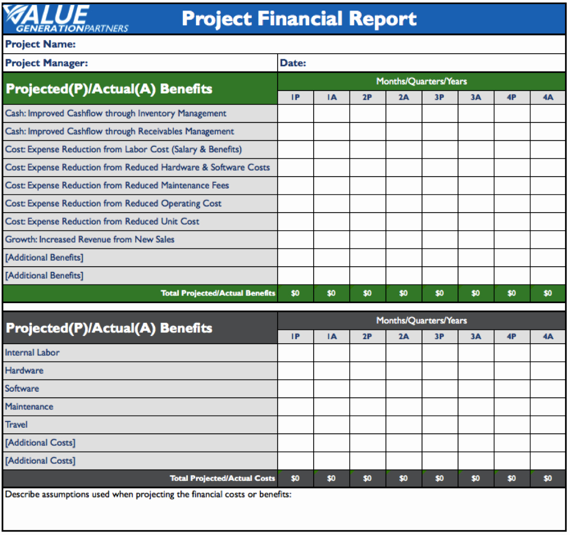 Financial Report Template Word Inspirational Rod Baxter – Value Generation Partners Vblog