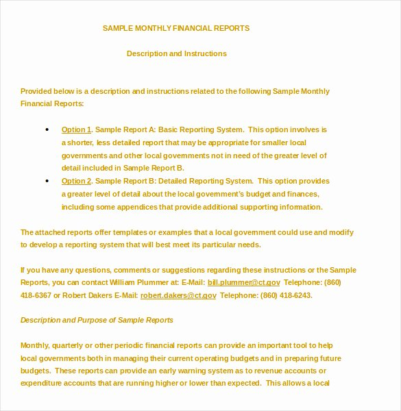 Financial Report Template Word Lovely 10 Financial Report Templates