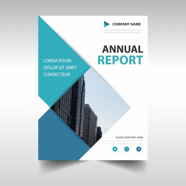 Financial Report Template Word Luxury Rectangular Professional Annual Report Template Vector