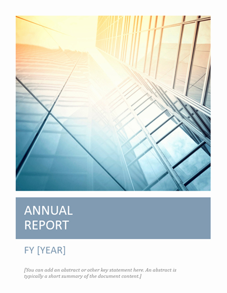 Financial Report Template Word New Annual Report with Cover Photo Timeless Design